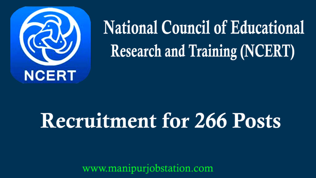 NCERT Recruitment for 266 posts | Apply Now 1