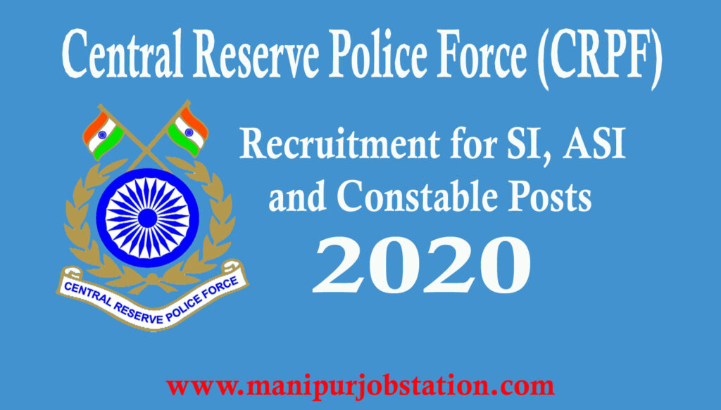 Central Reserve Police Force Recruitment for 789 Posts 1