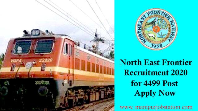 Northeast Frontier Railway Recruitment 2020 for 4499 Act Apprentice Posts 1